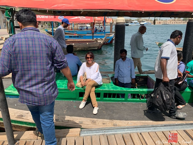 Trip to Dubai - Traditional abra ride in Old Dubai