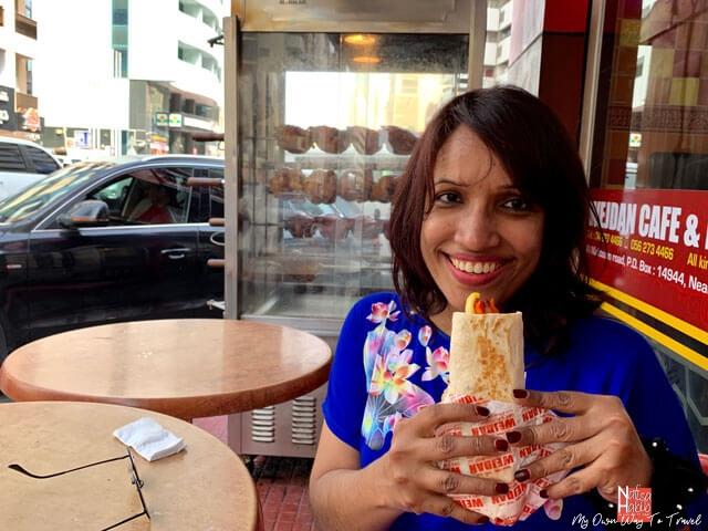 Arabian Food Shawarma at Wejdan Cafe & Restaurant