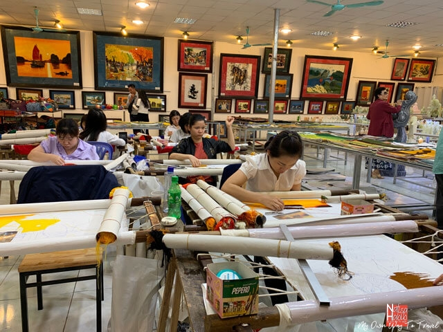 Workshop of Vietnamese traditional paintings