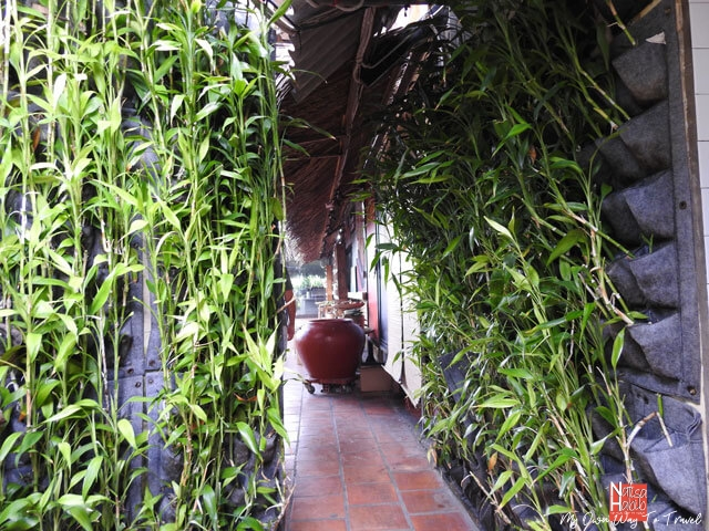 Natural decoration with bamboo trees at Bac Kim Thang Rest Stop