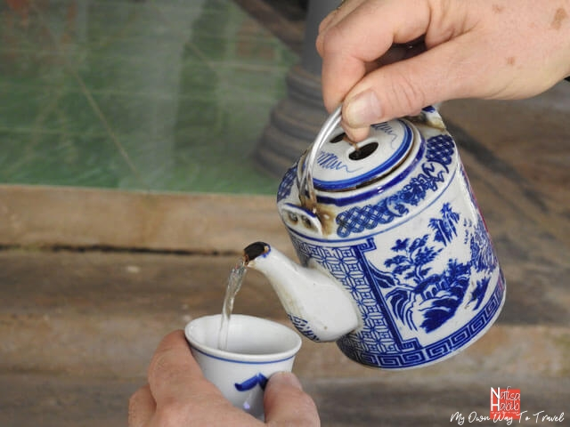 Vietnamese tea in a cute teapot
