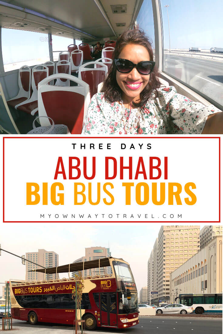 Abu Dhabi Big Bus tours for three days