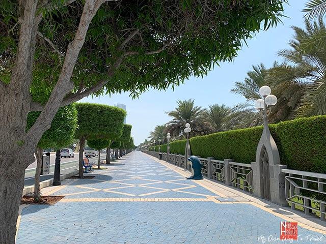Abu Dhabi Corniche in the UAE