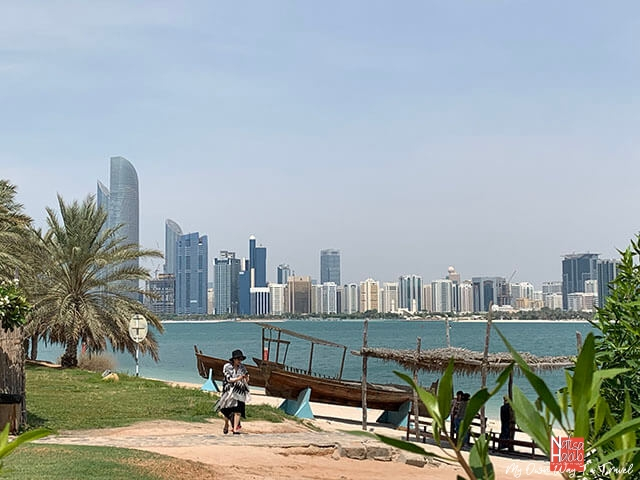 Abu Dhabi Corniche view from Heritage Village