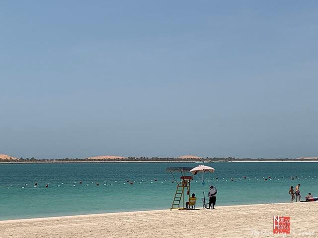 Blue-flagged Corniche Beach in Abu Dhabi