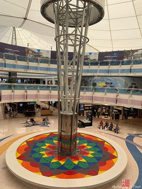 Internal steam fountain of Marina Mall
