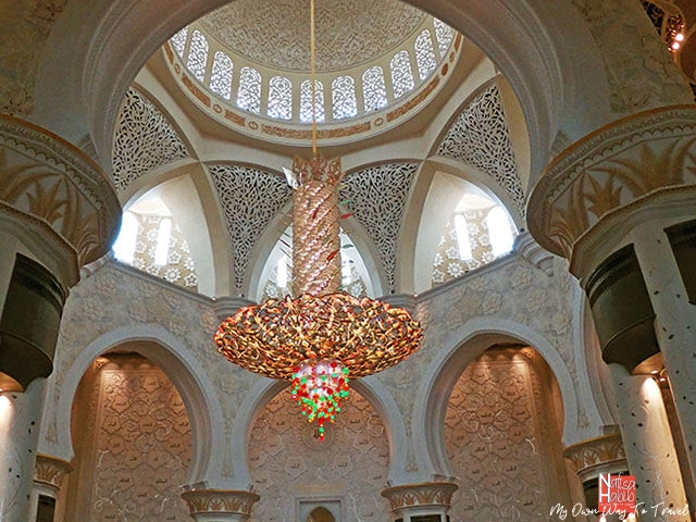 Largest chandelier of Sheikh Zayed Grand Mosque Abu Dhabi