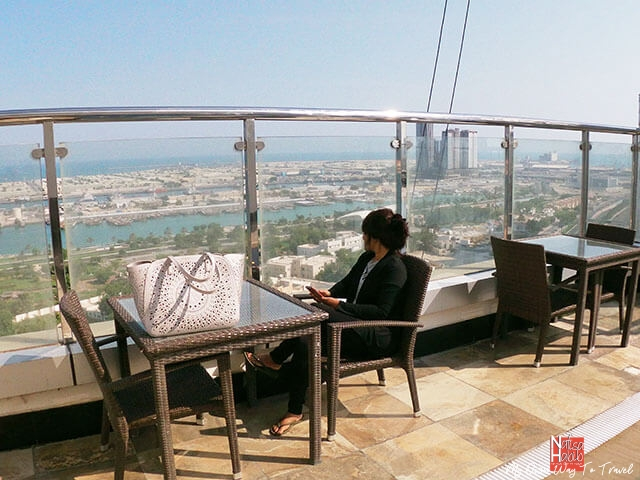 Sea view from the rooftop of Ramada Abu Dhabi Corniche Hotel