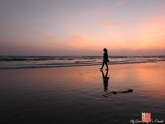 Beach walk after sunset in Cox's Bazar