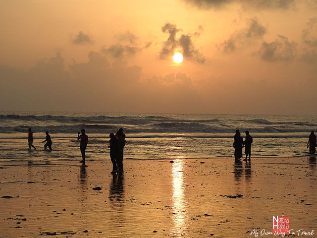 Cox's Bazar Beach sunset moment with Nikon Coolpix P900