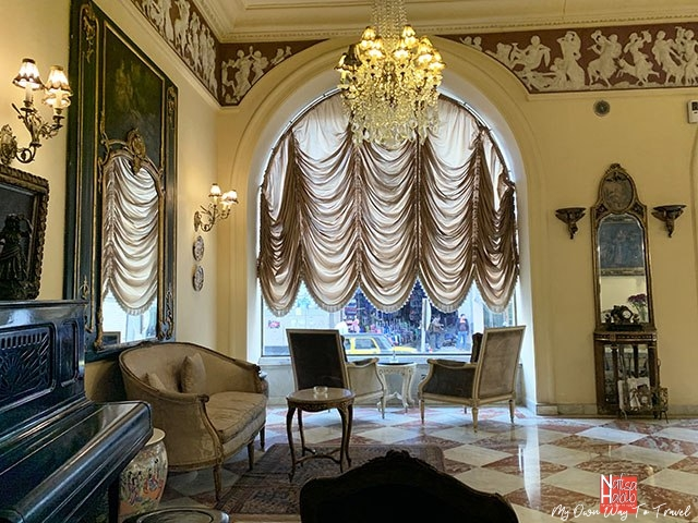 Classical decorations of the Alexandria Le Metropole Hotel