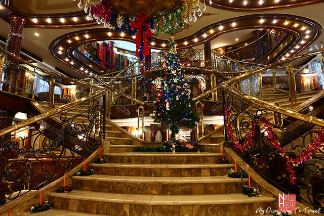 Gorgeous decor during Holiday Season at MS Monica Nile Cruise