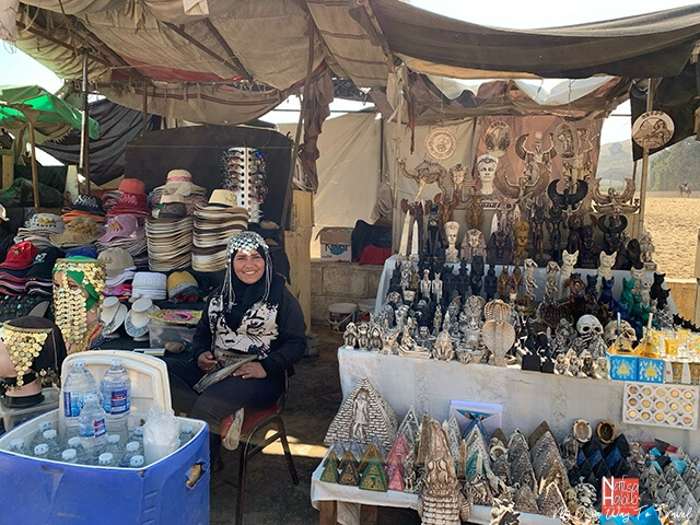 Souvenir shop in the Great Pyramid of Giza