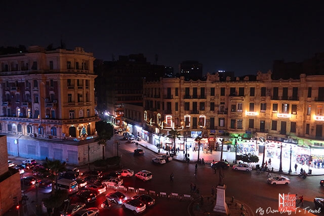 Talaat Harb Square in Downtown Cairo