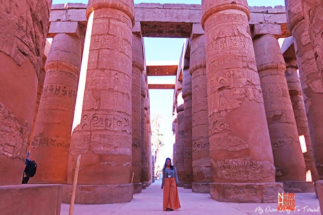 The oldest Karnak Temple in Luxor Egypt