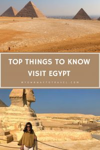 Top things you should know before visiting egypt