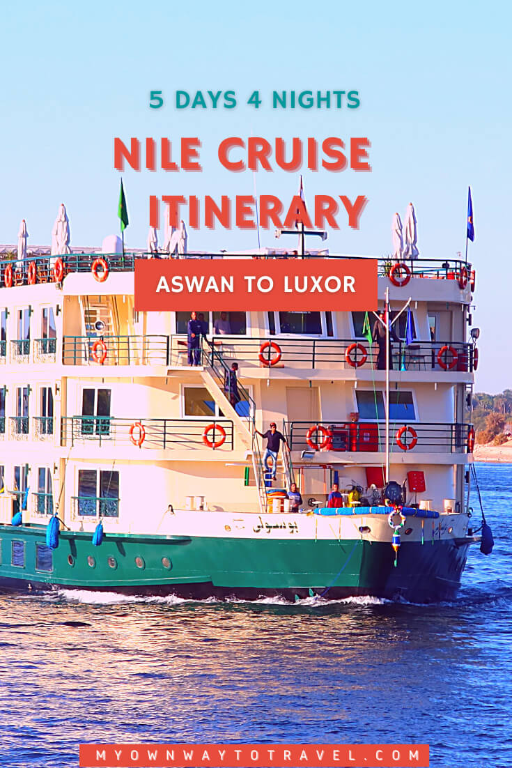 5 days 4 nights Nile Cruise from Aswan to Luxor