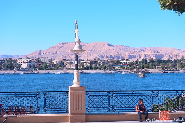 Beautiful Luxor city overlooking Qurna Mountain