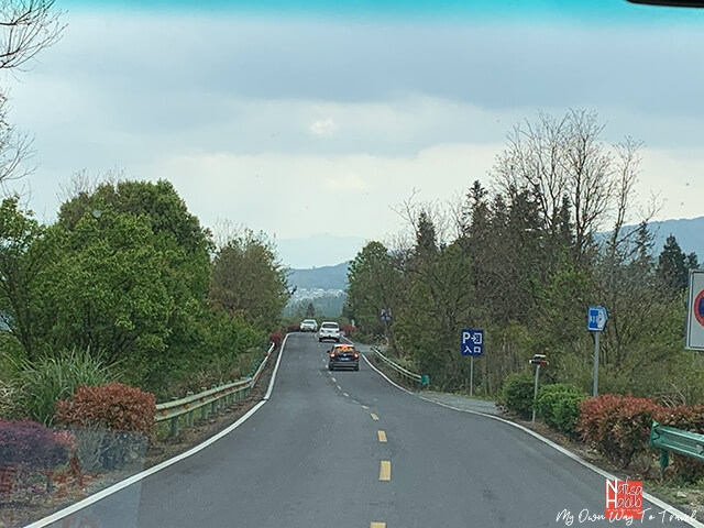Beautiful road on the way to Hongcun village