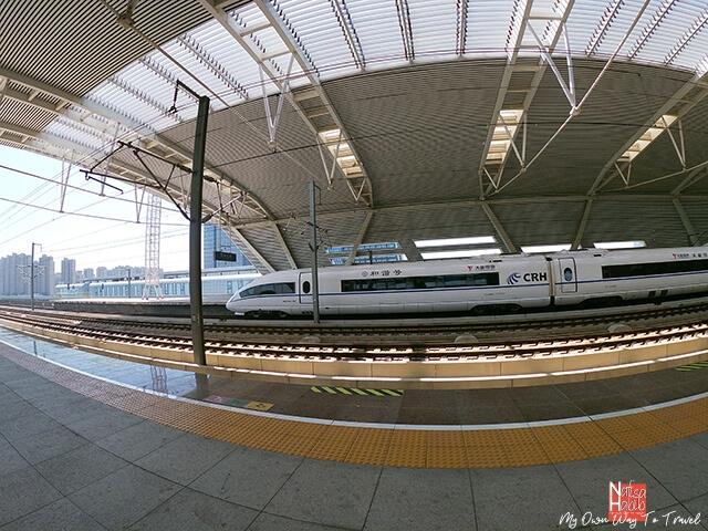Bullet train at SuzhouBei Railway Station