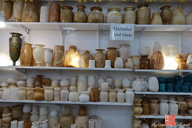 Handmade Alabaster vases from Luxor