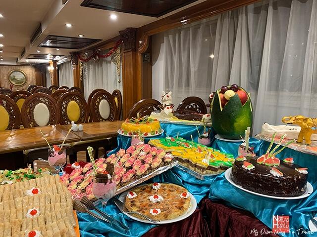Monica Nile Cruise dining room