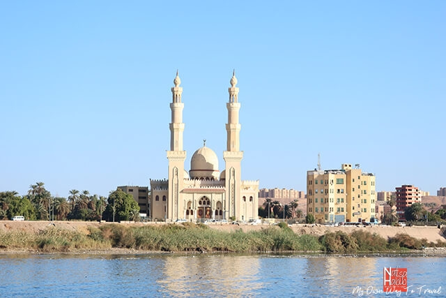 Nile River view from the boat in Aswan