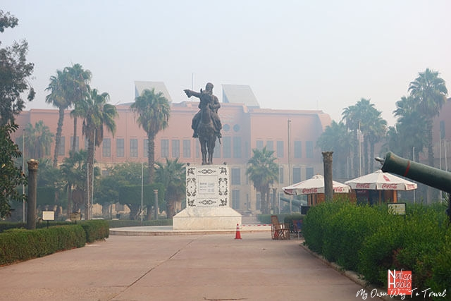 The statue of Ibrahim Pasha at Citadel of Cairo