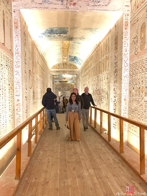 Valley of the Kings - Main passageway of Ramesses IV Tomb