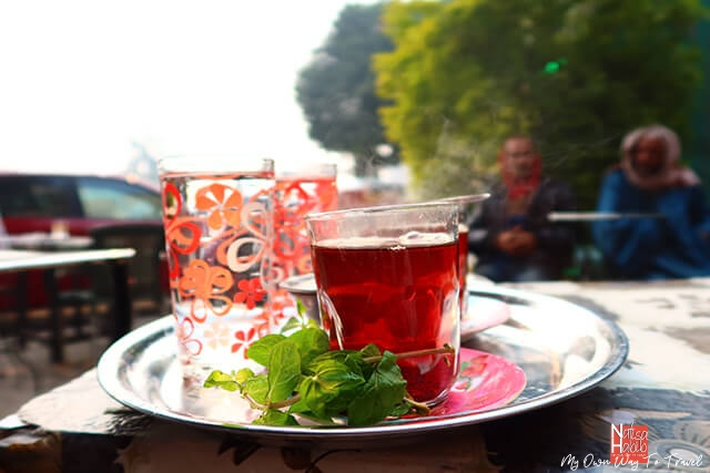 Egyptian Hibiscus Tea with Mint