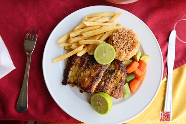 Fish fillets with red rice - Alsaraya Floating Restaurant in Cairo