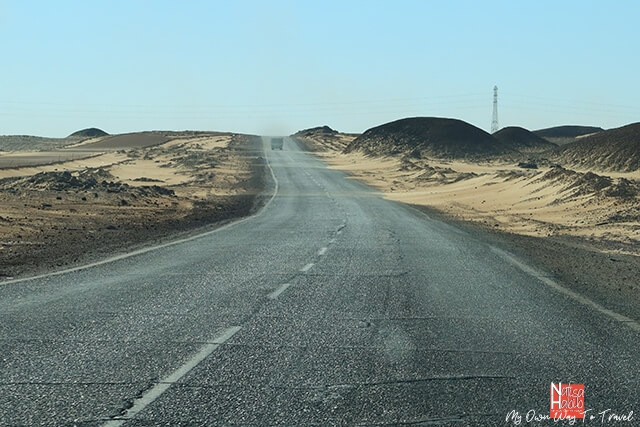 A beautiful road to the Black Desert
