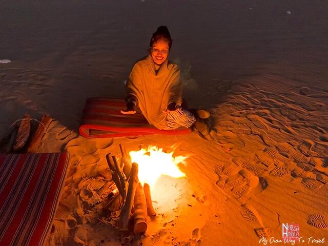 Campfire in the White Desert National Park