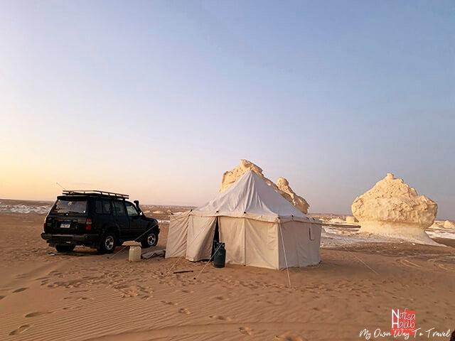 Camping in the White Desert National Park