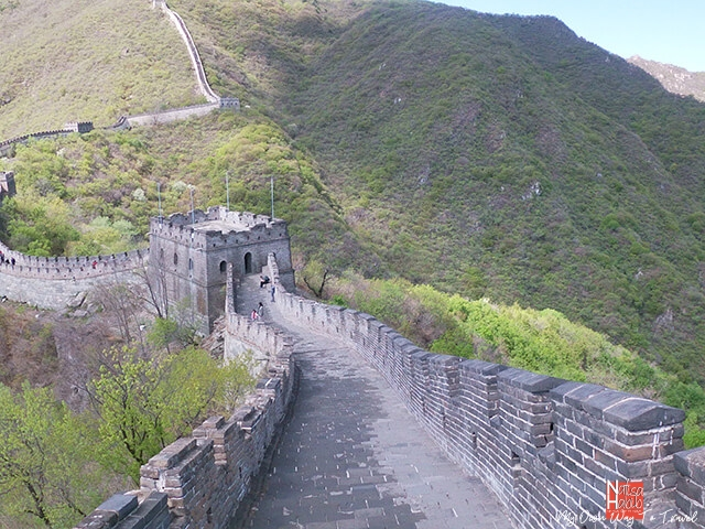 Mutianyu section of the Great Wall of China in Spring