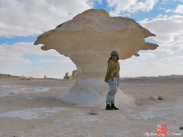 Natural sculpture of the Giant Mushroom in the White Desert National Park