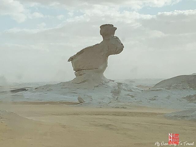 Rabbit rock formation in the White Desert