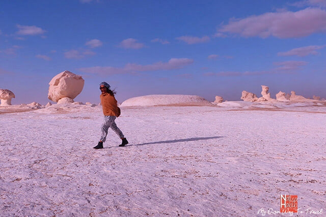 Spectacular White Desert National Park in the Bahariya Oasis