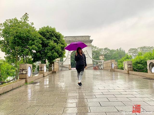 Yingbin Bridge of the Rong Lake Scenery Area in Guilin