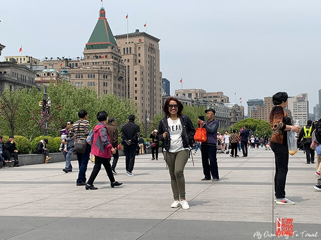 Walking along the Bund Sightseeing Avenue