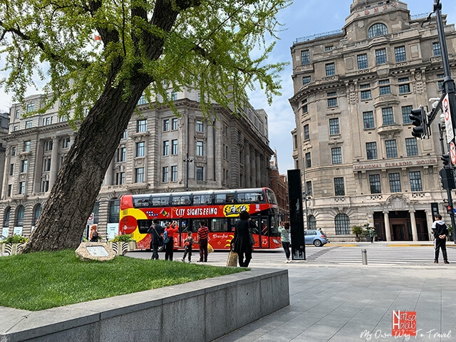 Shanghai city sightseeing tour bus
