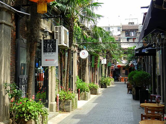 Shikumen Lane in Shanghai Tianzifang