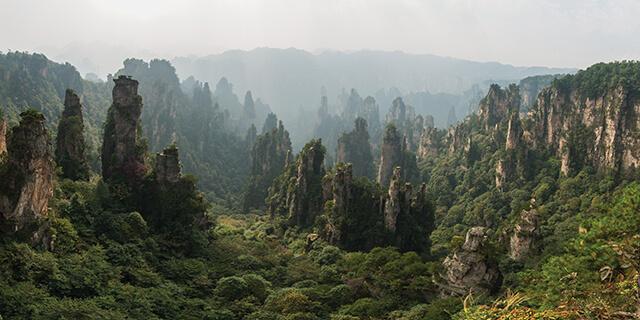 Zhangjiajie Mountains at Zhangjiajie National Forest Park
