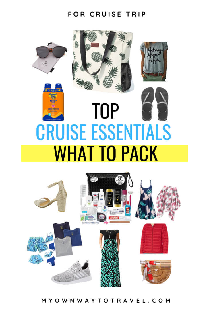 What to pack for a cruise checklist