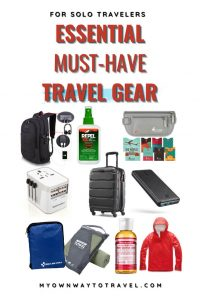 List of travel gear essential for solo travelers