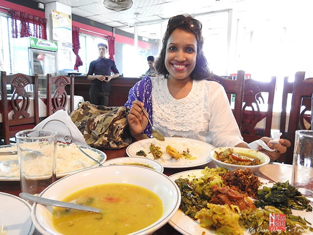 Lunch with Bangladeshi food at a local restaurant in Cox's Bazar