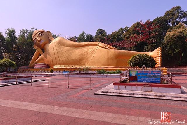 100 feet Lying Statue of Gautama Buddha