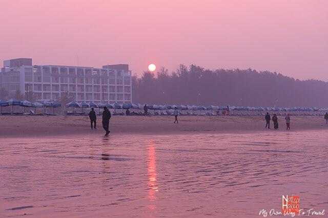 Cox's Bazar Beach sunrise